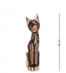 99-244 Статуэтка «Кошка» 40 см  албезия, о.Бали