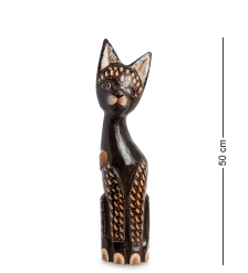 99-293 Статуэтка Кошка 50 см  албезия, о.Бали