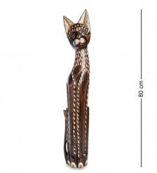 99-327 Статуэтка  Кошка  80 см  албезия, о.Бали