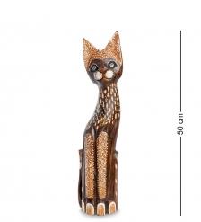 99-347 Статуэтка  Кошка  50 см  албезия, о.Бали