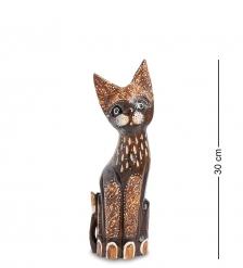 99-349 Статуэтка  Кошка  30 см  албезия, о.Бали