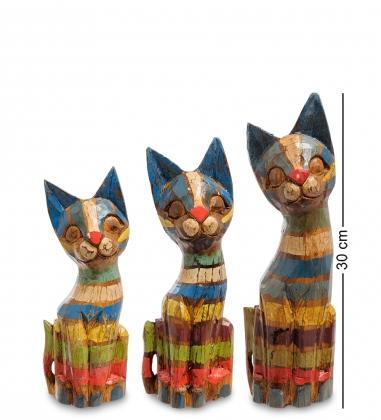 99-038 Фигурка Кошка н-р из трех 30,25,20 см  албезия, о.Бали