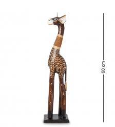 99-420 Статуэтка  Жираф  60 см  албезия, о.Бали
