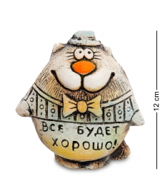KK-401 Фигурка  Кот Шляпник  шамот