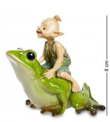 ED-331 Фигурка  Гном с лягушкой