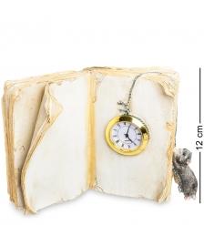 ED-332 Фигурка с часами  Котенок с книгой
