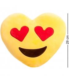 EK-01 Подушка-сердце  Смайлик Любовь