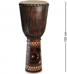 55-001-02 Барабан Джембе резной 100 см