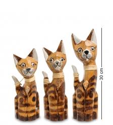 99-031 Фигурка  Кошка  н-р из трех 30,25,20 см  албезия, о.Бали