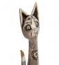 99-222 Статуэтка  Кошка  60 см  албезия, о.Бали