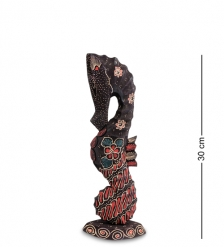 10-016-01 Фигурка  Морской конек   батик, о.Ява  мал 30 см