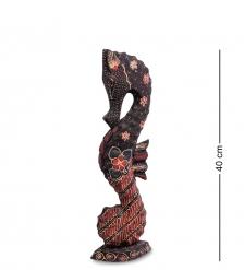 10-016-02 Фигурка  Морской конек   батик, о.Ява  сред 40 см