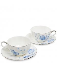JS-31 Чайный набор на 2 перс. Голубая бабочка  Pavone