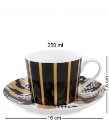 SL-17 Чашка с блюдцем  Камуфляж   Stechcol