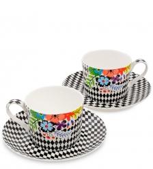 SL-24 Чайный набор на 2 перс.  Цветочный модерн   Stechcol
