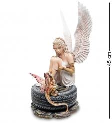 GA-85 Статуэтка  Ангел на автошине с драконом