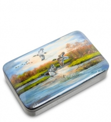 ШК-10/35 Шкатулка  Утки на озере