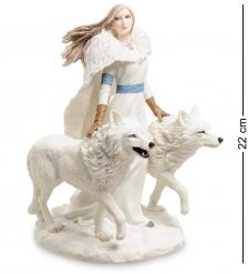 WS-264 Статуэтка Девушка и волки Зимние стражи