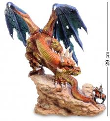 WS-267 Статуэтка Дракон и воин - храбрость неуместна