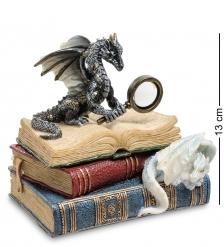 WS-844 Шкатулка Дракон на книгах