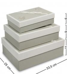 WF-69 Набор коробок из 3шт «Прямоугольник» - Вариант A