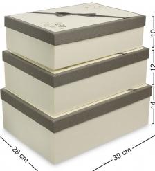 WF-74 Набор коробок из 3шт «Прямоугольник» - Вариант A