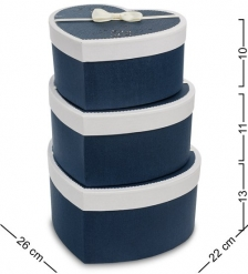 WF-96 Набор коробок из 3шт  Сердце  - Вариант A