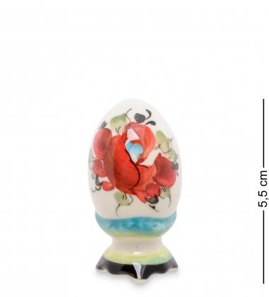 ГЛ-398 Фигурка  Пасхальное яйцо  мал. цв.  Гжельский фарфор