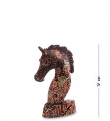 10-013-01 Фигурка  Лошадь   батик, о.Ява  мал 15 см