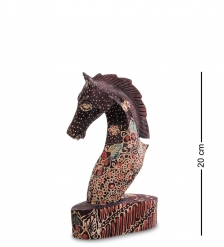 10-013-02 Фигурка  Лошадь   батик, о.Ява  сред 20 см