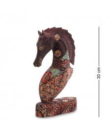 10-013-03 Фигурка  Лошадь   батик, о.Ява  бол 25 см