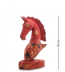 10-014-03 Фигурка  Лошадь   батик, о.Ява  бол 25 см