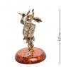 AM-1391 Фигурка  Рыцарь с булавой   латунь, янтарь