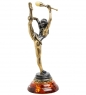 AM-1404 Фигурка  Гимнастка с булавой   латунь, янтарь