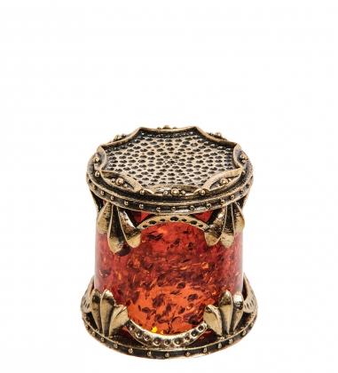 AM-1415 Наперсток  латунь, янтарь