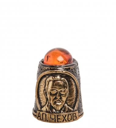 AM-1420 Наперсток  Чехов А.П.   латунь, янтарь