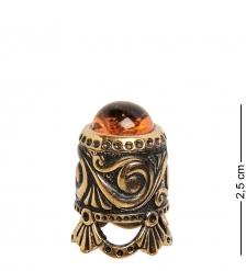AM-1433 Наперсток «Юбочка с кабашоном»  латунь, янтарь