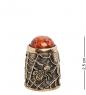 AM-1438 Наперсток  Паук и муха   латунь, янтарь