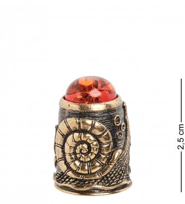 AM-1441 Наперсток  Улитка   латунь, янтарь