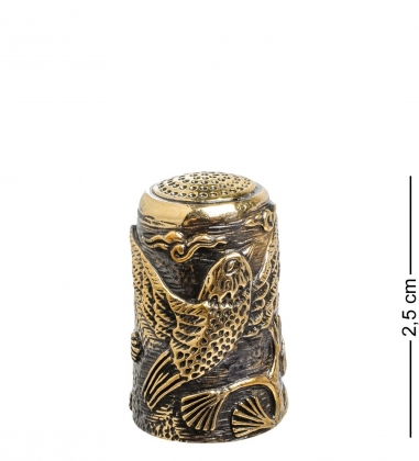 AM-1444 Наперсток Птички Свиристели  латунь