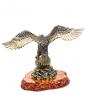 AM-1472 Фигурка  Орел на гнезде   латунь, янтарь