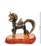 AM-1499 Фигурка  Пони Винки Фур   латунь, янтарь