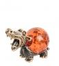 AM-1506 Фигурка  Бегемот Яшка   латунь, янтарь
