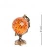 AM-1511 Фигурка  Глобус   латунь, янтарь