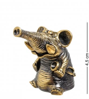Первая фотография AM-1521 Фигурка  Колокольчик-Слон с горном   латунь