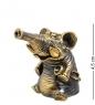 AM-1521 Фигурка  Колокольчик-Слон с горном   латунь