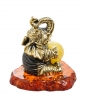AM-1527 Фигурка «Слон Цирковой»  латунь, янтарь