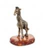 AM-1533 Фигурка  Жирафик Софи   латунь, янтарь