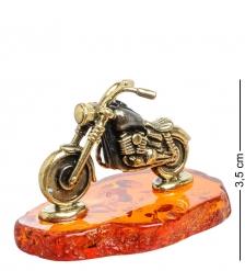 AM-1537 Фигурка «Байк»  латунь, янтарь