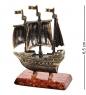 AM-1538 Фигурка  Корабль Алые Паруса   латунь, янтарь